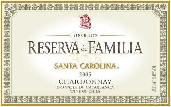 圣卡罗家族珍藏霞多丽干白Santa Carolina Reserva De Familia Chardonnay
