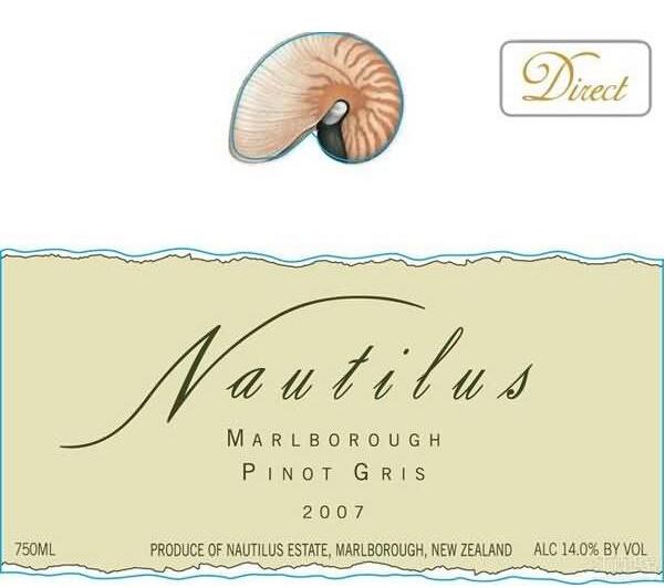 鹦鹉螺灰皮诺干白Nautilus Pinot Gris