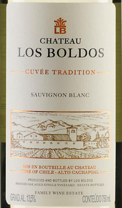 洛宝多传统长相思干白Chateau Los Boldos Sauvignon Blanc Trandition