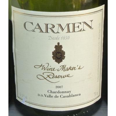 卡门酒庄酒师特酿霞多丽干白CARMEN Wine Maker's Reserve Chardonnay