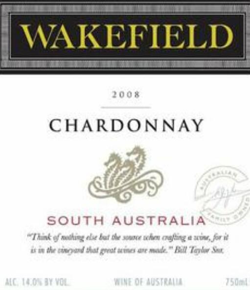 泰来斯霞多丽干白Taylors Wakefield Estate Chardonnay