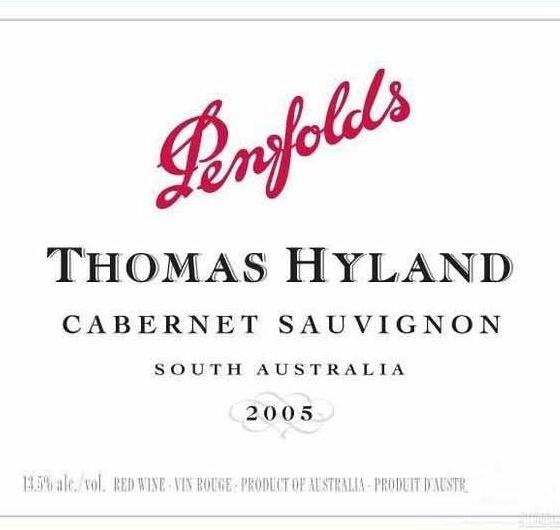 奔富托马斯海蓝赤霞珠干红 Penfolds Thomas Hyland Cabernet Sauvignon