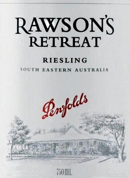 奔富洛神山庄雷司令干白Penfolds Rawson's Retreat Riesling