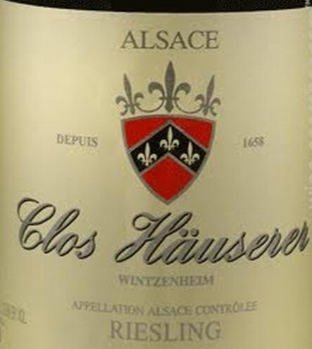 辛特-鸿布列什酒庄奥赛尔庄园雷司令干白Domaine Zind-Humbrecht riesling clos hauserer