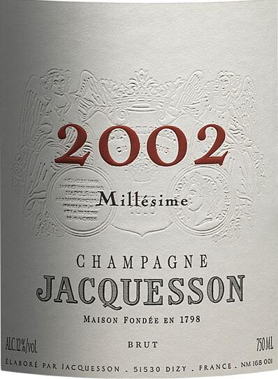 雅克森酒庄年份香槟Jacquesson Millesime Brut