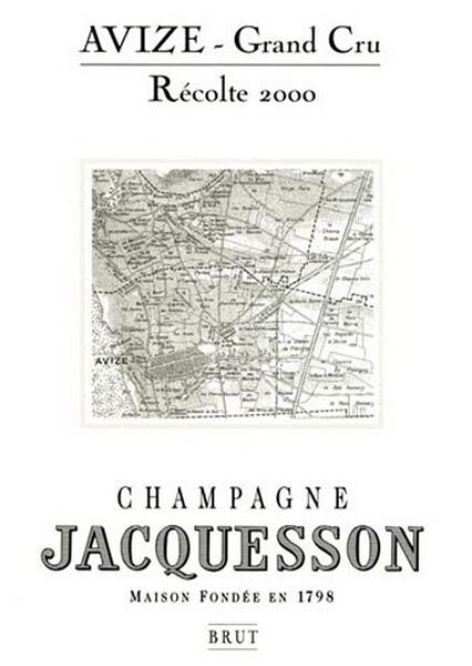 雅克森阿维兹列级园干型香槟Jacquesson Avize Millesime Grand Cru Brut