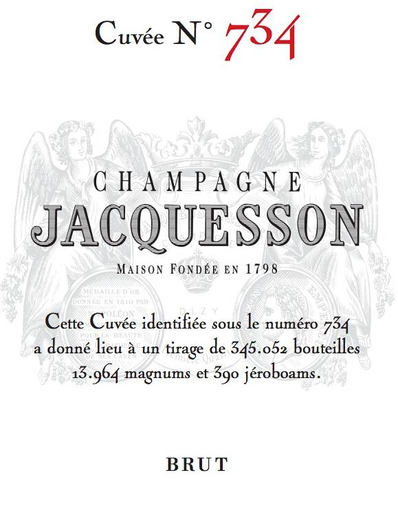 雅克森734干型香槟Jacquesson Cuvee no 734 Brut Champagne
