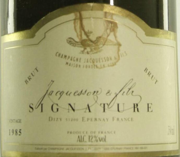 雅克森米勒斯摩列级园干型香槟Jacquesson Grand Vin Signature Millesime Brut