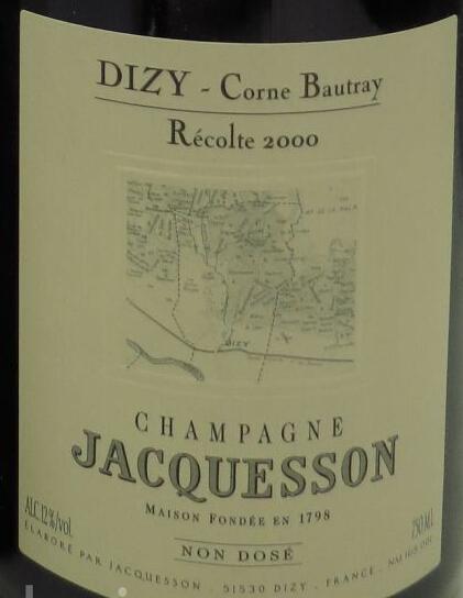 雅克森迪济科恩碧藕切霞多丽白香槟Jacquesson Et Fils Dizy Corne Bautray Chardonnay