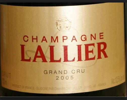 乐蕾米勒斯摩列级园干型香槟Lallier Cuvee Millesime Grand Cru Brut