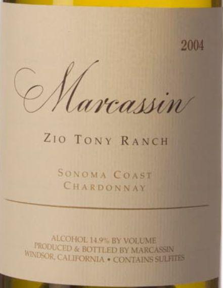 玛尔卡森齐奥托尼园霞多丽干白Marcassin Zio Tony Ranch Chardonnay