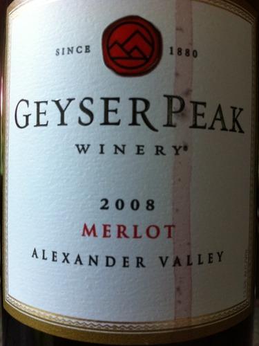盖世峰梅洛干红Geyser Peak Merlot