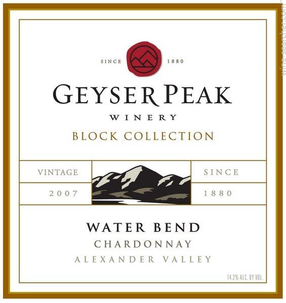 盖世峰精选系列水弯霞多丽干白Geyser Peak Block Collection Water Bend Chardonnay