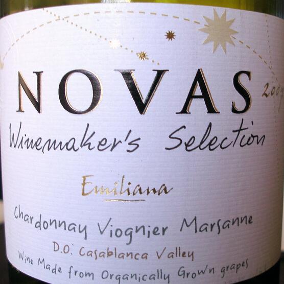 埃米利亚纳诺瓦酿酒师精选霞多丽维欧尼玛珊干白Emiliana Novas Winemaker's Selection Chardonnay Viognier Marsanne