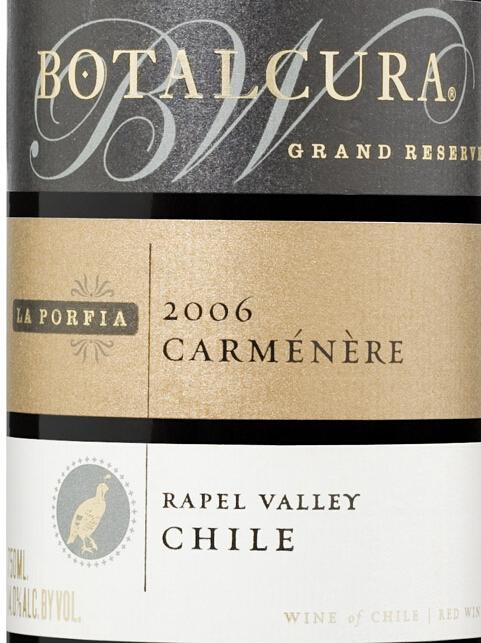 博塔卡拉波菲亚顶级珍藏佳美娜干红Botalcura La Porfia Gran Reserva Carmenere