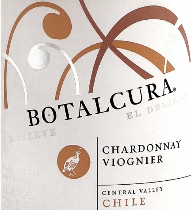 博塔卡拉狂欢珍藏霞多丽维欧尼干白Botalcura El Delirio Reserve Chardonnay Viognier