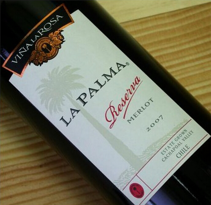 罗莎澎马珍藏梅洛干红Vina La Rosa La Palma Reserva Merlot