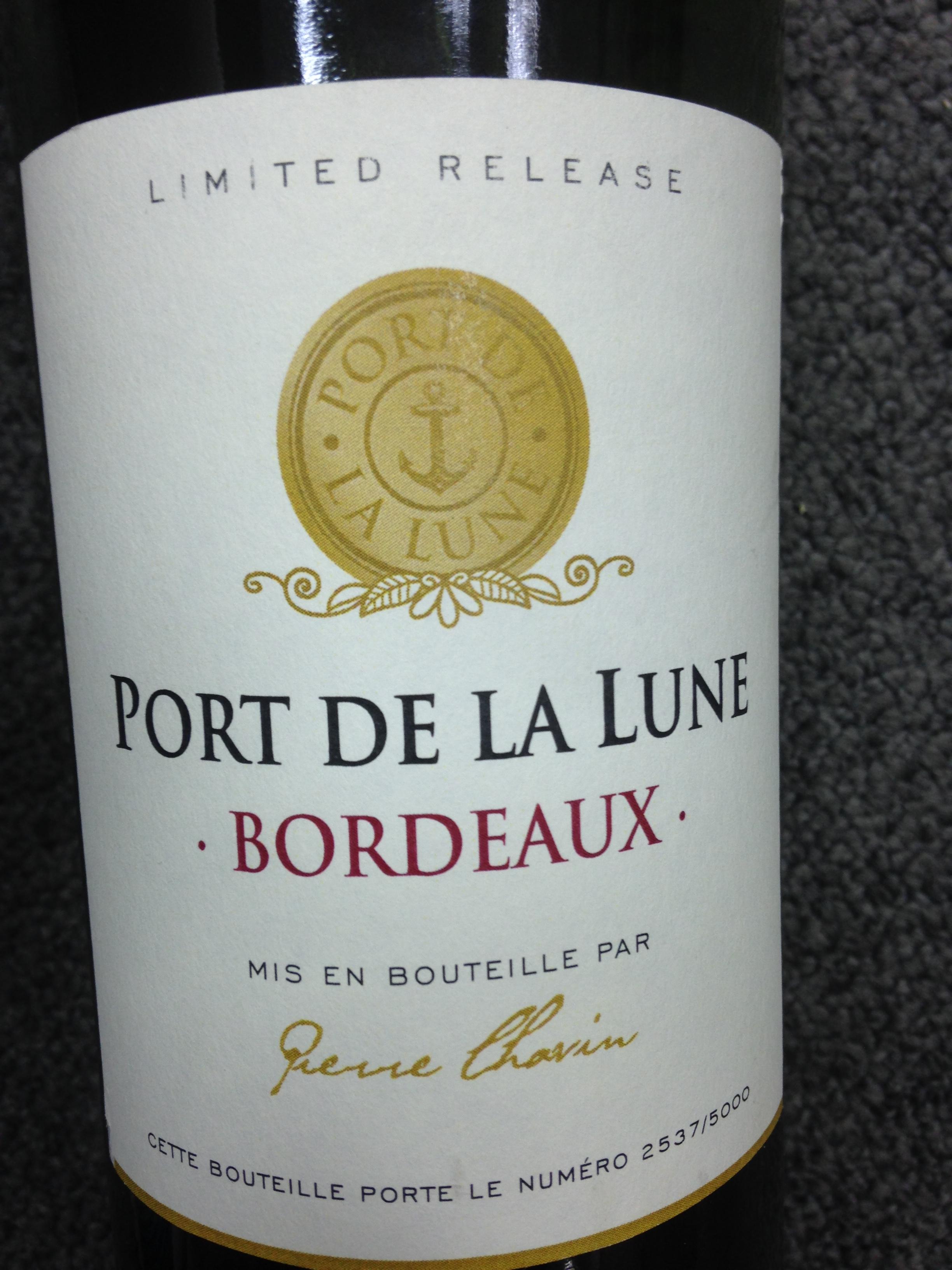 月亮港波尔多干红Port De La Lune Bordeaux