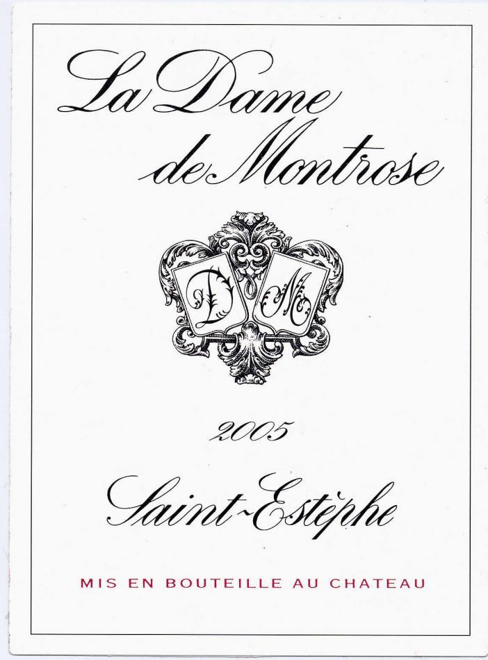梦玫瑰酒庄副牌干红La Dame de Montrose