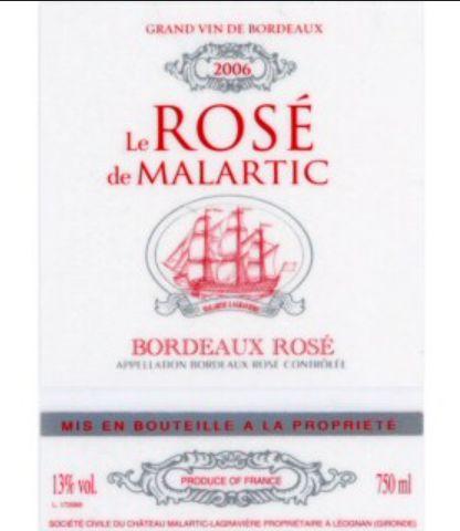马拉狄酒庄桃红Le Rose de Malartic