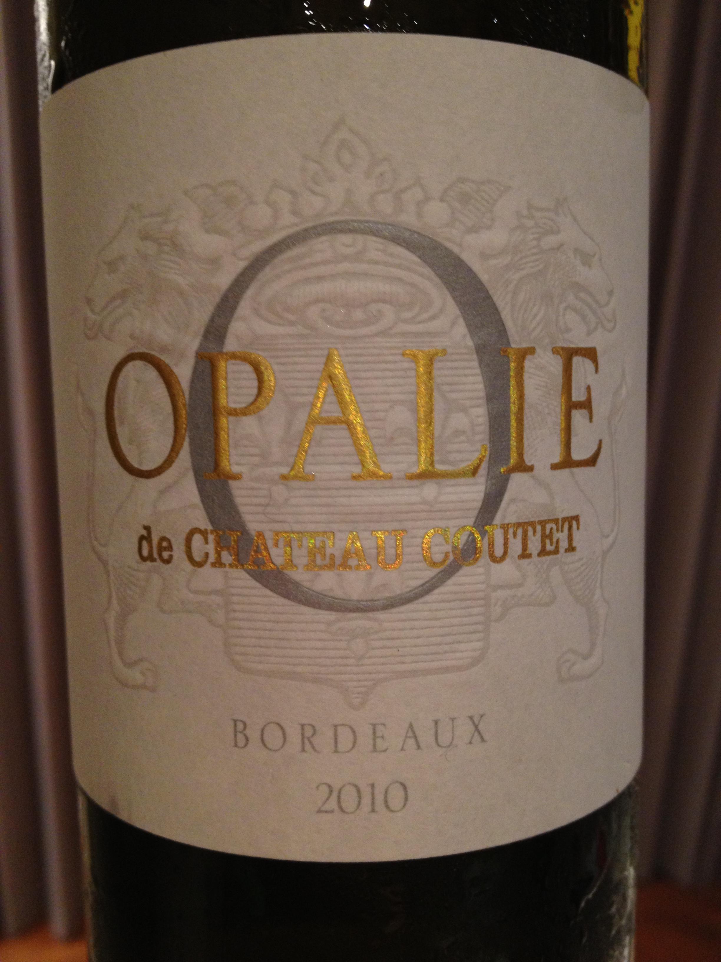 古岱酒庄欧柏丽干白Opalie De Chateau Coutet