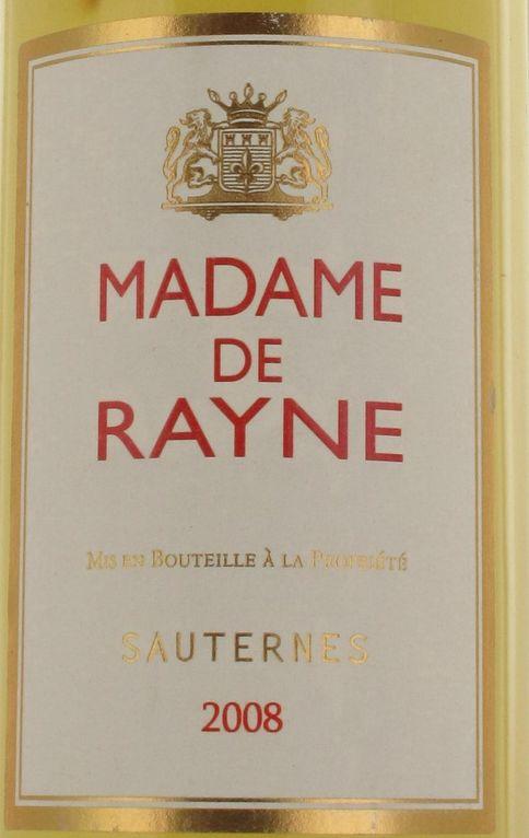 海内威农庄园副牌贵腐甜白Madame de Rayne