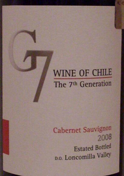 卡塔维嘉吉七赤霞珠干红Carta Vieja G7 Cabernet Sauvignon