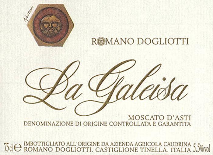 卡乌汀娜莫斯卡托加蕾萨莫斯卡托阿斯蒂起泡葡萄酒Caudrina Moscato d'Asti La Galeisa
