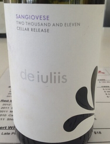 德伊利斯酒窖系列桑娇维塞干红De Iuliis Cellar Release Sangiovese