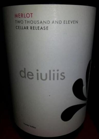 德伊利斯酒窖系列梅洛干红De Iuliis Cellar Release Merlot