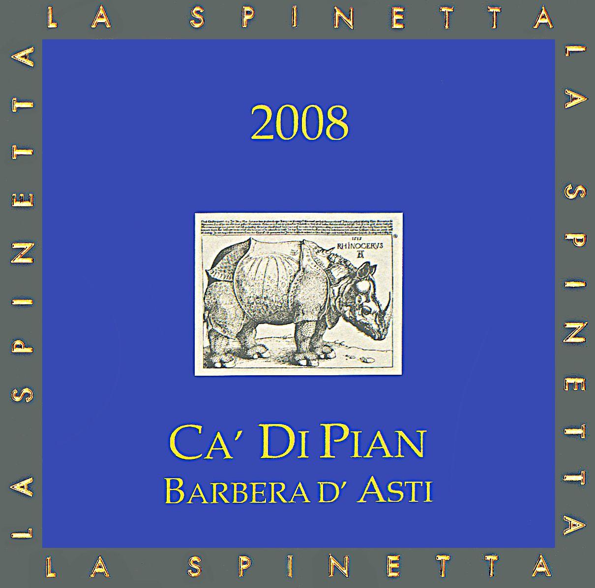 诗培纳巴贝拉干红La Spinetta Barbera D'asti Ca Di Pian