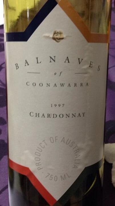 巴内夫霞多丽干白Balnaves of Coonawarra Chardonnay