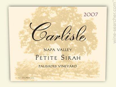 卡尔丽丝帕利塞德园小西拉干红Carlisle Palisades Vineyard Petite Sirah