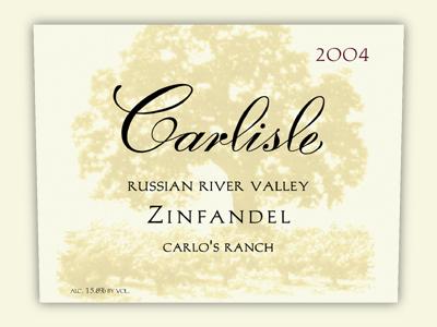 卡尔丽丝卡罗斯牧场仙粉黛干红Carlisle Carlos Ranch Zinfandel