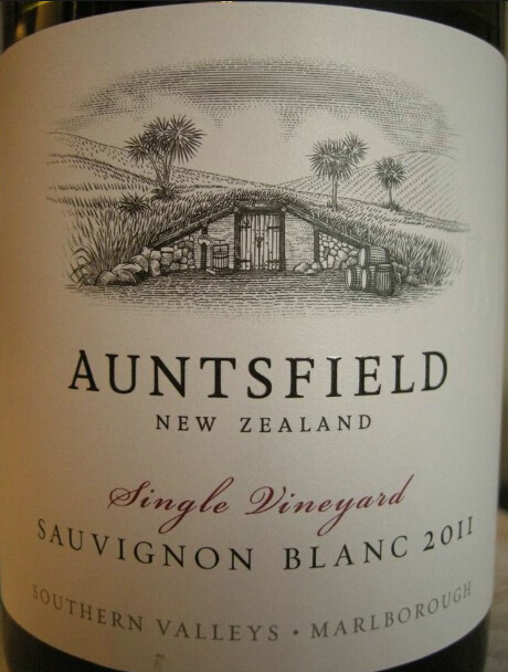 昂兹菲尔德长相思白葡萄酒Auntsfield Single Vineyard Sauvignon Blanc