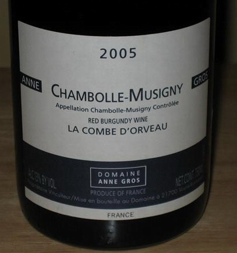 安格奥斯奥尔沃谷干红Domaine Anne Gros La Combe d'Orveau