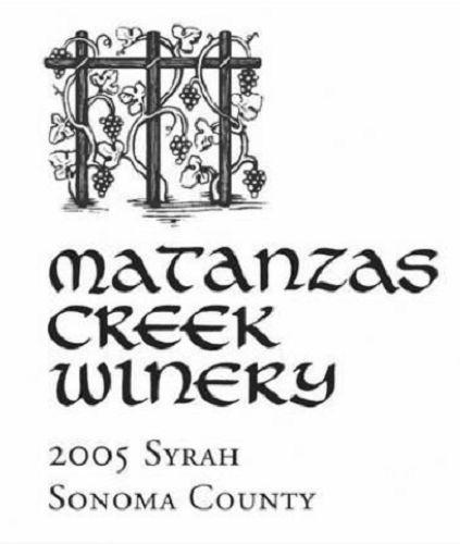 马坦萨斯溪西拉干红Matanzas Creek Syrah