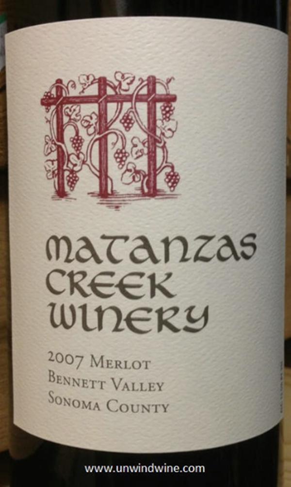 马坦萨斯溪梅洛干红Matanzas Creek Merlot