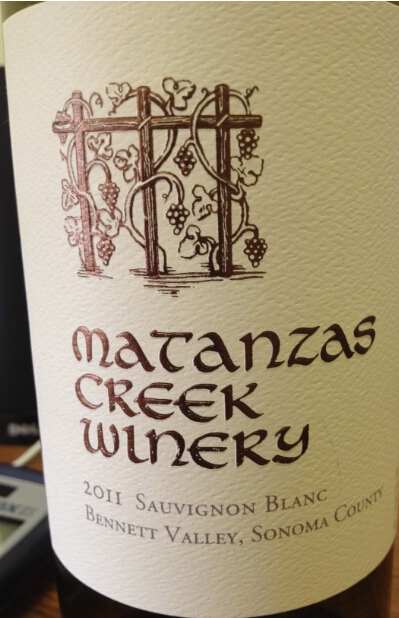 马坦萨斯溪长相思干白Matanzas Creek Sauvignon Blanc