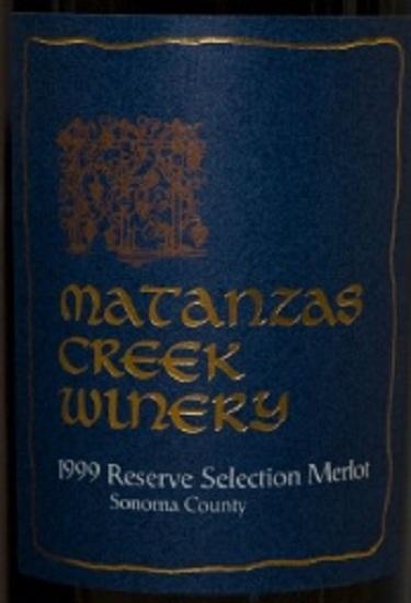 马坦萨斯溪珍藏精选梅洛干红Matanzas Creek Reserve Selection Merlot