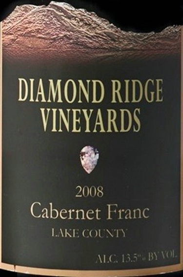 diamond ridge vineyards cabernet franc (lake county)