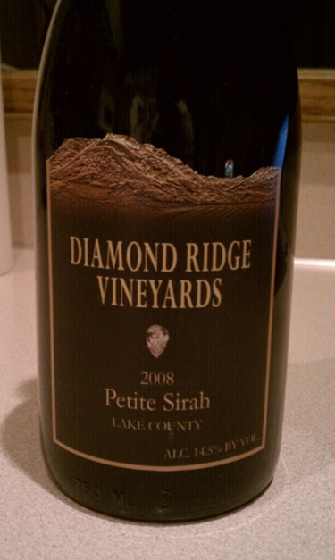 diamond ridge vineyards petite sirah (lake county)