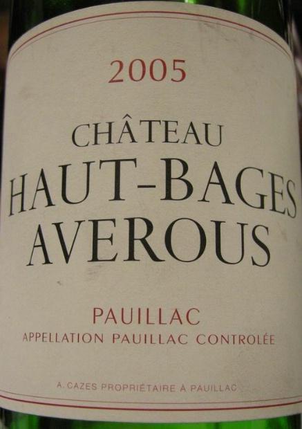 靓茨伯酒庄副牌干红Chateau Haut-Bages Averous