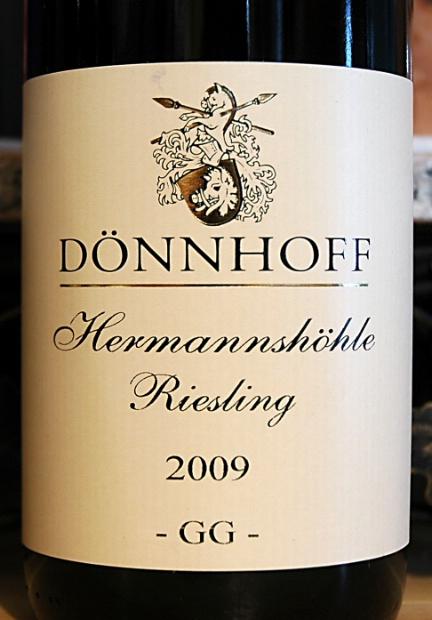杜荷夫尼德豪塞何曼索顶级雷司令白Weingut Donnhoff Niederhauser Hermannshohle Riesling Grosses Gewachs