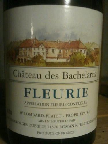 乔治杜柏夫巴什拉庄园福乐里干红Georges Duboeuf Chateau des Bachelards Fleurie