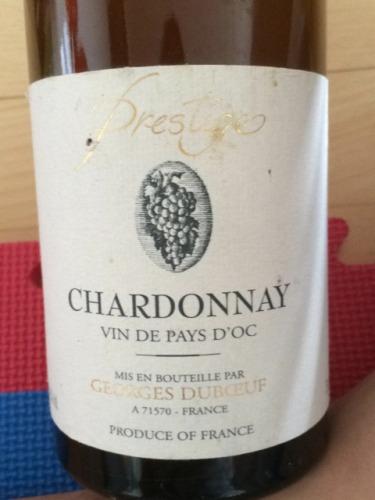 乔治杜柏夫精品霞多丽干白(奥克地区餐酒)Georges Duboeuf Chardonnay Prestige