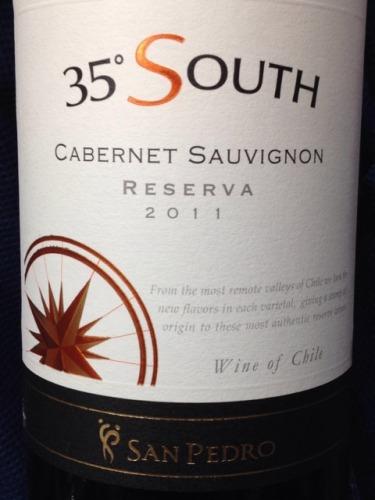 圣派德罗南纬35度珍藏赤霞珠干红Vina San Pedro 35° South Reserva Cabernet Sauvignon