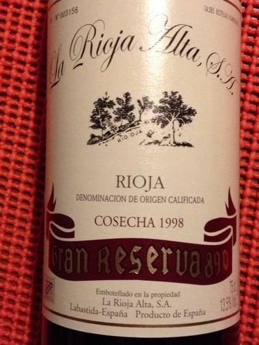 橡树河畔890特级珍藏干红La Rioja Alta  S.A. Gran Reserva 890