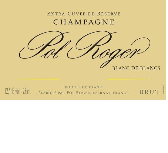 宝禄爵顶级精酿白中白干型香槟Champagne Pol Roger Extra Cuvee de Reserve Brut Blanc de Blanc