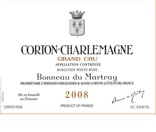 马莱特科尔登-查理曼园干白Domaine Bonneau du Martray Corton-Charlemagne Grand Cru